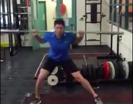 Lateral Lunge Barbell